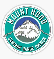 MOUNT HOOD OREGON CASCADE RANGE CASCADES WY'EAST TEAL Sticker