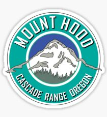 MOUNT HOOD OREGON CASCADE RANGE CASCADES WY'EAST TEAL Sticker