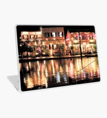 Hoi An, Vietnam, river and restaurants in soft tones Laptop Skin