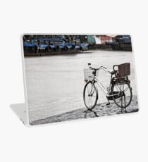 Hoi An bicycle in rain Laptop Skin