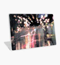 Hoi An lanterns and reflections on bridge Laptop Skin