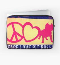Peace Love Pit Bulls Laptop Sleeve