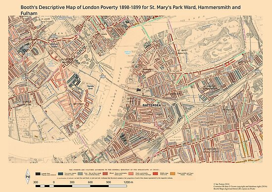 Booth 39 S Map Of London Poverty For St Mary 39 S Park Ward