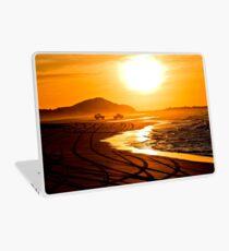 Beach highway sunset (Moreton Island, Australia) Laptop Skin