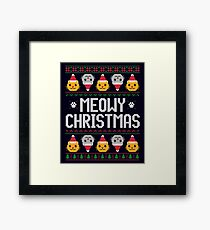 Ugly Christmas Sweater - Cat Framed Print