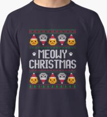Ugly Christmas Sweater - Cat Lightweight Sweatshirt