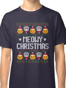 Ugly Christmas Sweater - Cat Classic T-Shirt