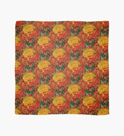 Abstract Orange Yellow And Green Colors Scarf