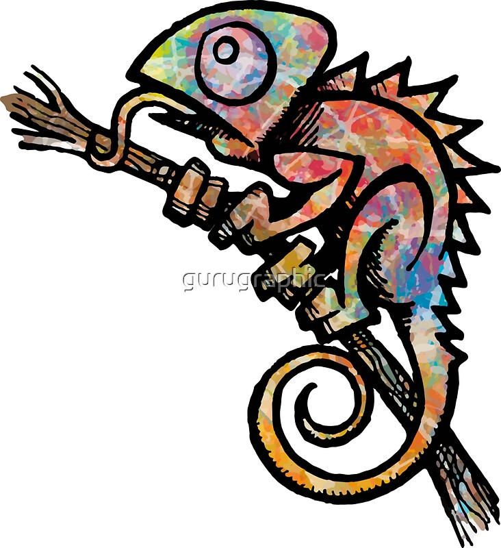 Quot Chameleon Quot Stickers By Gurugraphic Redbubble