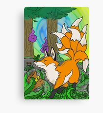 ninetails fox Canvas Print