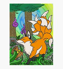 ninetails fox Photographic Print