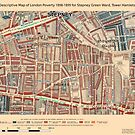 Booth's Map of London Poverty for Stepney Green ward, Tower Hamlets by ianturton