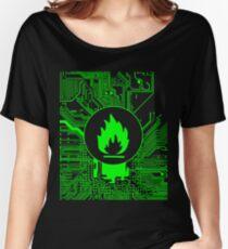 Cybergoth - Flammable (green) Women's Relaxed Fit T-Shirt