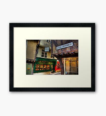 Little Shambles - York Framed Print
