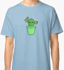 Cute cactus in green pot Classic T-Shirt