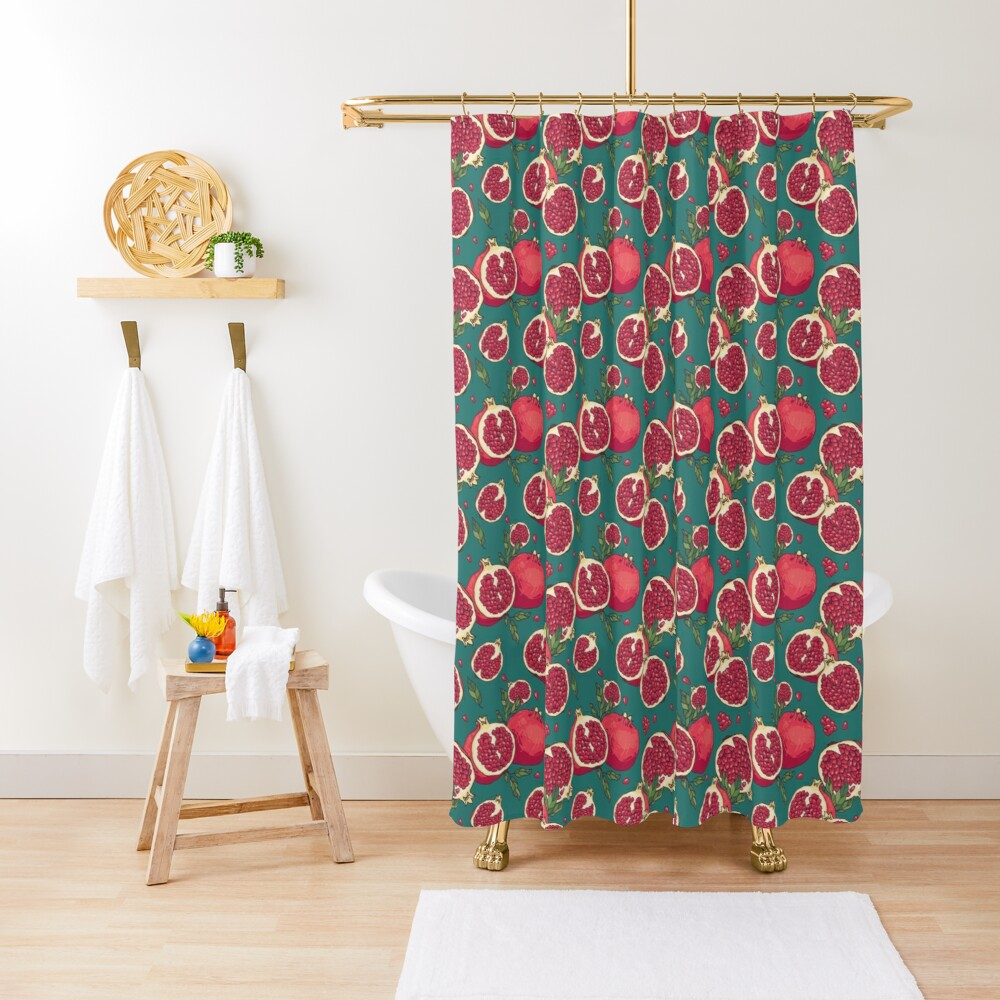 Juicy pomegranate fruits Shower Curtain
