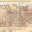 Booth's Map of London Poverty for Stoke Newington ward, Hackney by ianturton