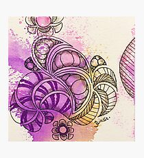 Tangle Art Pattern Love Colored I Photographic Print