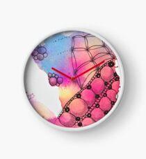 Tangle Art Pattern Love colored II Uhr
