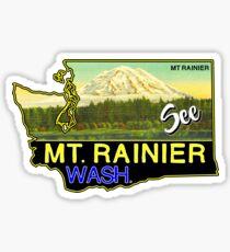 SEE MOUNT RAINIER WASHINGTON NATIONAL PARK CASCADES VINTAGE TRAVEL Sticker