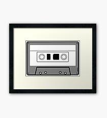 Cassette Tape - Vintage Retro Audio Framed Print