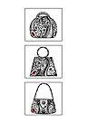 3 bag doodles by Jacqueline Eden