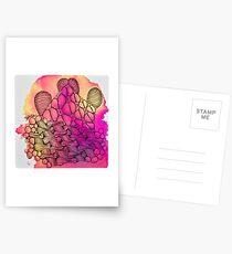 Tangle Art Pattern Love colored III Postkarten