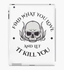 Let love kill you iPad Case/Skin