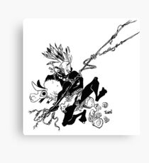 Afro Spider Canvas Print