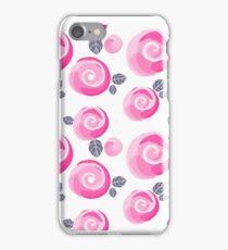 watercolor roses, cute little flowers seamless pattern iPhone Case/Skin
