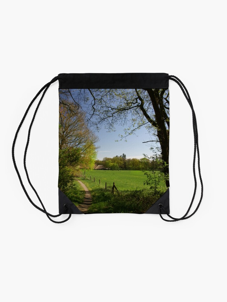 Alternate view of Rural View Drawstring Bag