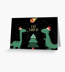 Merry Extinction Greeting Card