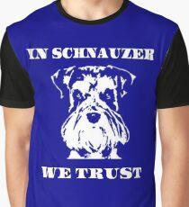 In Schnauzer We Trust Graphic T-Shirt