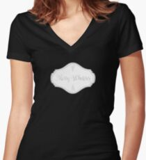Merry Whatever - Falling Candies Women's Fitted V-Neck T-Shirt