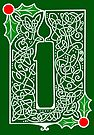 Celtic Knotwork Candle - Green by Rose Gerard