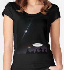 Supermond! Tailliertes Rundhals-Shirt