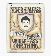 Ron Swanson - Whole-Ass One Thing iPad Case/Skin
