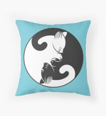 Kitten Yin Yang Throw Pillow