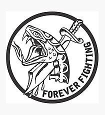 Forever Fighting, Snake & Dagger Tattoo  Photographic Print