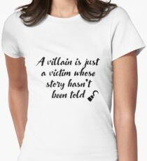 OUAT - A villain is just a victim Womens Fitted T-Shirt