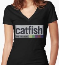 Catfish the TV Show Women's Fitted V-Neck T-Shirt