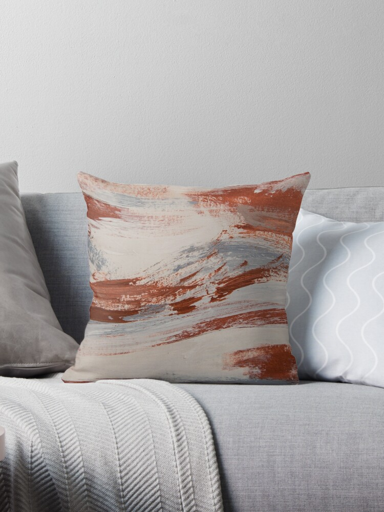 Pleasing Rust Slate And Earth Throw Pillow By Chelsey Maclean Theyellowbook Wood Chair Design Ideas Theyellowbookinfo