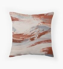 Rust, Slate and Earth Throw Pillow
