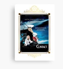 Contact Movie Poster With Katya and Trixie Canvas Print