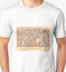 Booth's Map of London Poverty for Vassal ward, Lambeth T-Shirt
