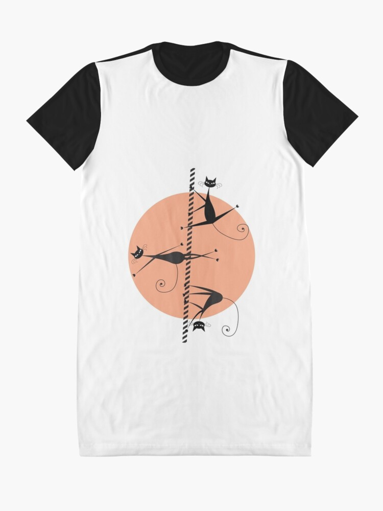 Vista alternativa de Vestido camiseta Gatos bailarines