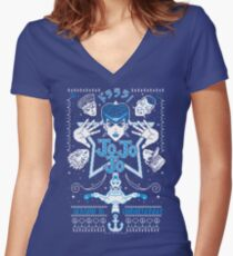 JOJOJO! ICE VER. Women's Fitted V-Neck T-Shirt