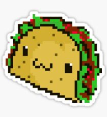 Pixel Art Taco Sticker