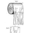 Toilet Paper Roll by S. Wheeler Patent Drawing Design by Framerkat