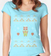 Zelda Christmas Sweater Women's Fitted Scoop T-Shirt
